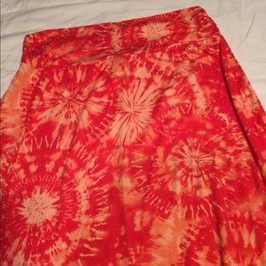 L.A. Apparel Boho,Hippie,Tie Dye Maxi Skirt-Sz- L
